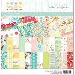 """Party Time! Collection Pack 12""""x12"""" Webster's Pages"""