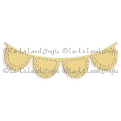 Scalloped Banner Die La-La Land Crafts