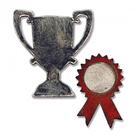 Mini Trophy & Prize Ribbon Sizzix Movers & Shapers Magnetic by Tim Holtz