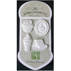Sweet Life Sweet Treats Resin Embellishments 4 Pkg Melissa Frances