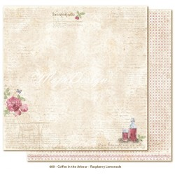 "Raspberry Lemonade 12""x12"" Coffee in the Arbour Maja Design"