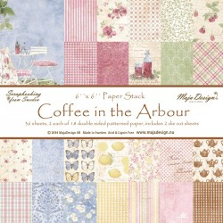 "Coffee in the Arbour 6""x6"" Paper Stack Maja Design"