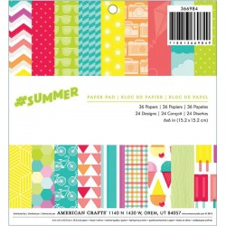 "Summer Paper Pad 6""x6"" 36 Pkg American Crafts"