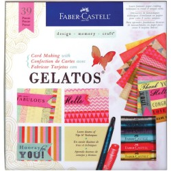 Card Making Kit With Gelatos Kit Faber Castell