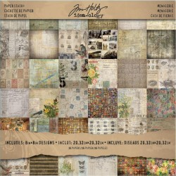 "Menagerie Paper Stash 8""x8"" Idea Ology by Tim Holtz"