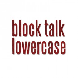 Block Talk Lowercase Alphabet by Tim Holtz Sizzix Bigz XL Die