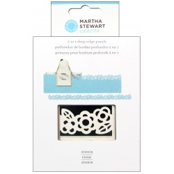 Zinnia 2-in-1 Deep Edge Punch Martha Stewart