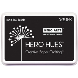 India Ink Black Hero Hues Dye Ink Pad Hero Arts
