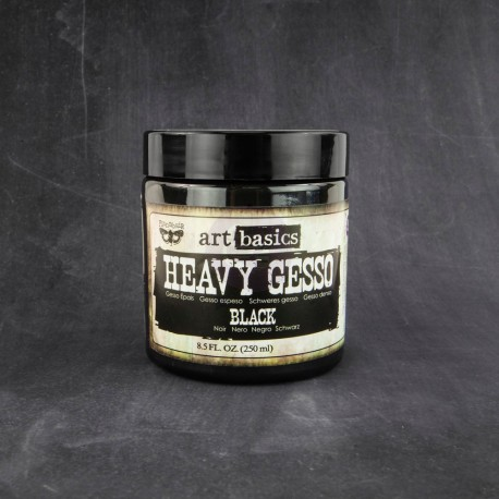 Black Heavy Gesso 250 ml Art Basics Prima Marketing
