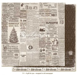 "Wrapped in Old Newspaper 12""x12"" A Gift for You Maja Design"