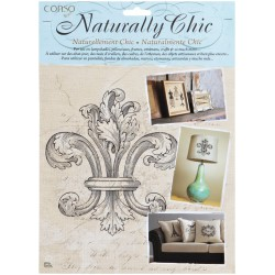 Fleur De Lis Wrights Naturally Chic Iron-On Transfers
