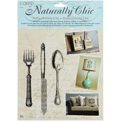 Knife Fork & Spoon Wrights Naturally Chic Iron-On Transfers
