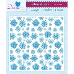 "Let It Snow Embossalicios Embossing Folders 6""x6"" Crafter's Companion"