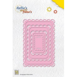 Rectangle 3 Frame Dies Multi Nellie Snellen