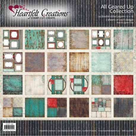 """All Geared Up Collection 12"""" x 12"""" Heartfelt Creations"""