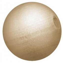 Wood Round Bead 40 mm 6 Pkg