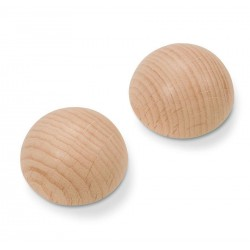 Wood Hemisphere Natural 30 mm 4 Pkg