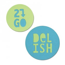 Jar Lid Phrases Delish & 2 Go Sizzix Bigz Die Where Women Cook