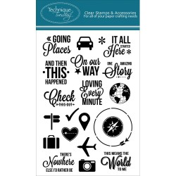 Going Places Clear Stamps Technique Tuesday