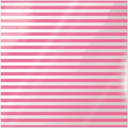 "Neon Pink Stripe Clearly Bold Acetate Sheets 12"" x 12"""