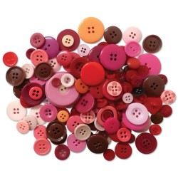 Reds Button Embellishment Fashion Dyed Buttons 60 g
