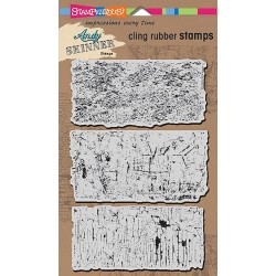 "Industrial Set Andy Skinner Cling Rubber Stamp 5""x7"" Stampendous"