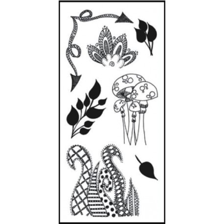 Clearly Doodle Parts Mini Clear Stamps Dylusions