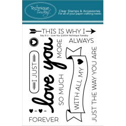 """Say It 2 - Love You Clear Stamps 3""""x4"""" Technique Tuesday"""