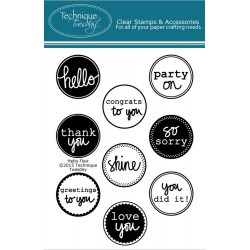 """Hello Flair Clear Stamps 3""""x4"""" Technique Tuesday"""
