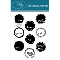 """Daily Flair Clear Stamps 3""""x4"""" Technique Tuesday"""