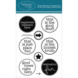 """Happiness Clear Stamps 4""""x6"""" Technique Tuesday"""