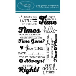 """Time Of Our Life Clear Stamps 4""""x6"""" Technique Tuesday"""