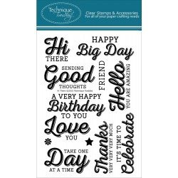 """Hi There Clear Stamps 4""""x6"""" Technique Tuesday"""