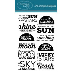 """My Sun & Moon Clear Stamps 4""""x6"""" Technique Tuesday"""