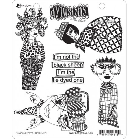 Black Sheep Dyan Reaveley's Dylusions Cling Stamp