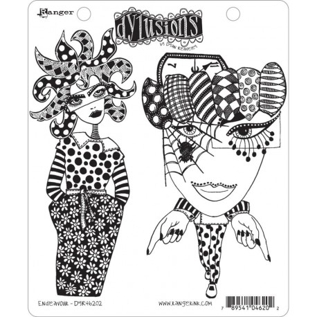 Endeavour Dyan Reaveley's Dylusions Cling Stamp