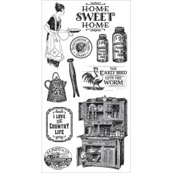 Home Sweet Home 1 Cling Mounted Stamps Hampton Art