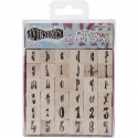 Alphabet Set Mounted Stamp Dyan Reaveley's Dylusions