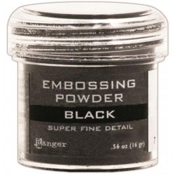 Black Super Fine Detail Embossing Powder Ranger