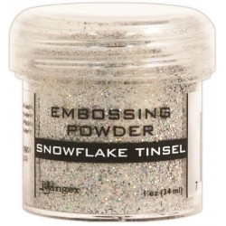 Snowflake Tinsel Embossing Powder Ranger