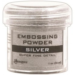 Silver Super Fine Detail Embossing Powder Ranger