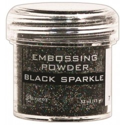 Black Sparkle Embossing Powder Ranger