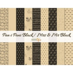 "Mrs & Mr Black Paper Set 12"" x 12"" Studio75"