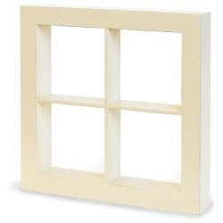"Ivory W4 Openings Staples Window Shadow Box 10""x10""x1,75"" Graphic 45"