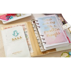 White Color Crush Personal Planner Kit Webster's Pages