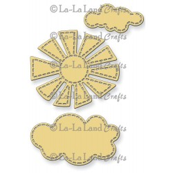 Stitched Sun And Clouds Die La-La Land Crafts