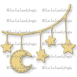 Moon And Stars Banner Die La-La Land Crafts
