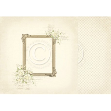 "Photo Frame 12"" x 12"" Vintage Wedding Pion design"