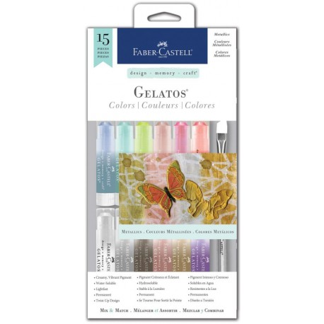 Metallics Gelatos Color Kit 15 Pkg