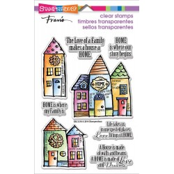 "Family Home Perfectly Clear Stamps 4""x6"" Stampendous"